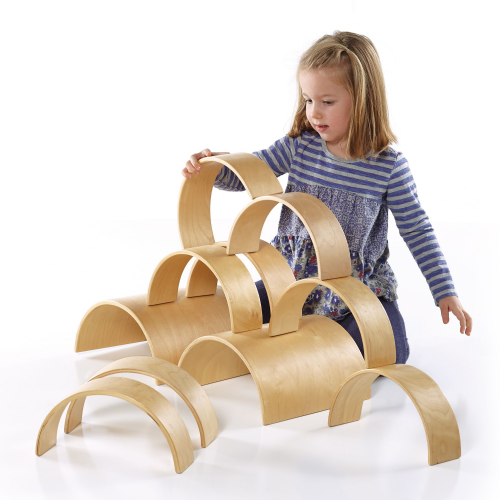 Guidecraft Wooden Arches & Tunnels Set